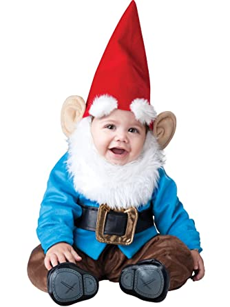 incharacter baby boys garden gnome costume bluered x small - Garden Gnome Costume