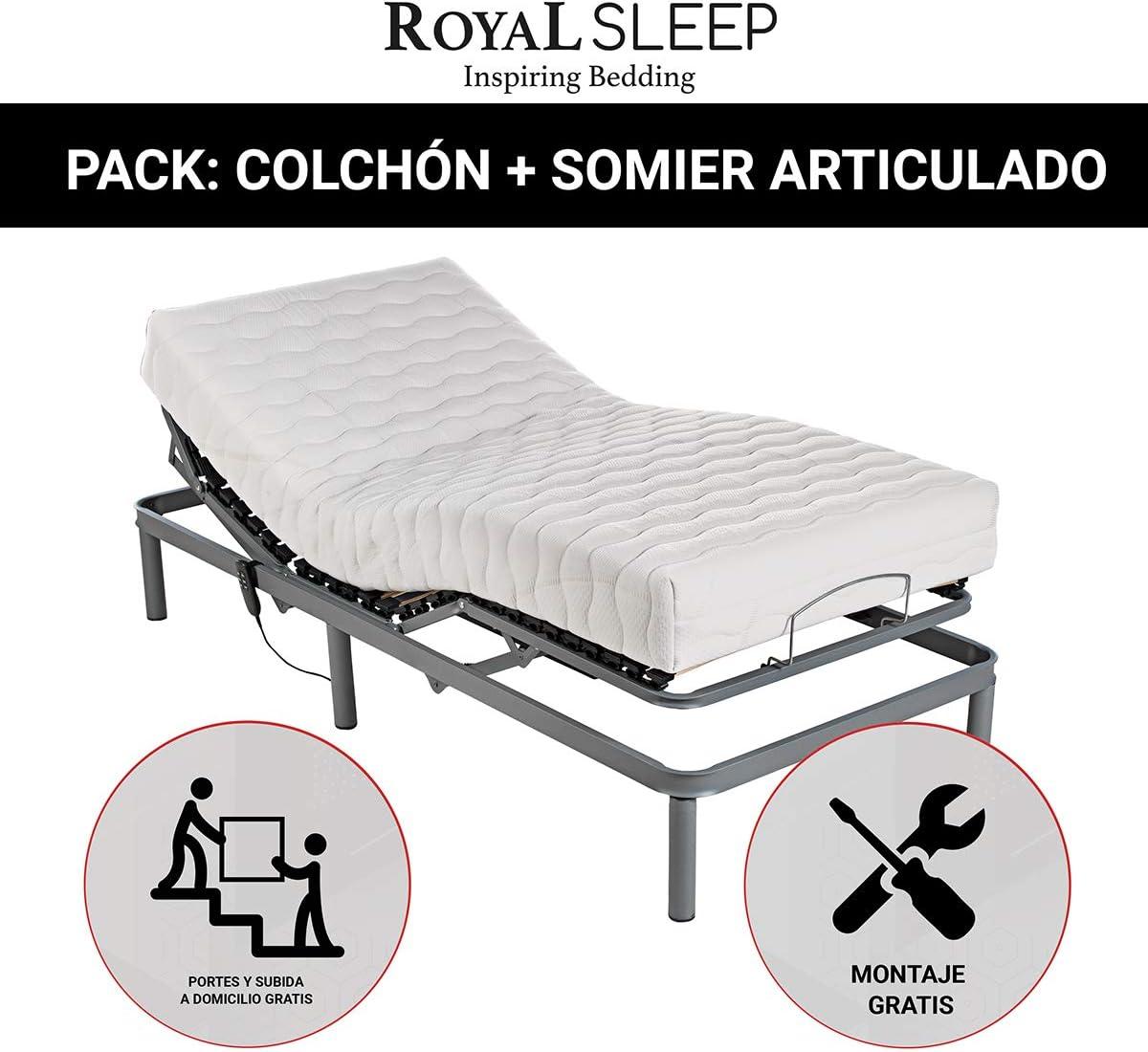 ROYAL SLEEP, Pack Cama colchón Espuma HR Confort y somier ...