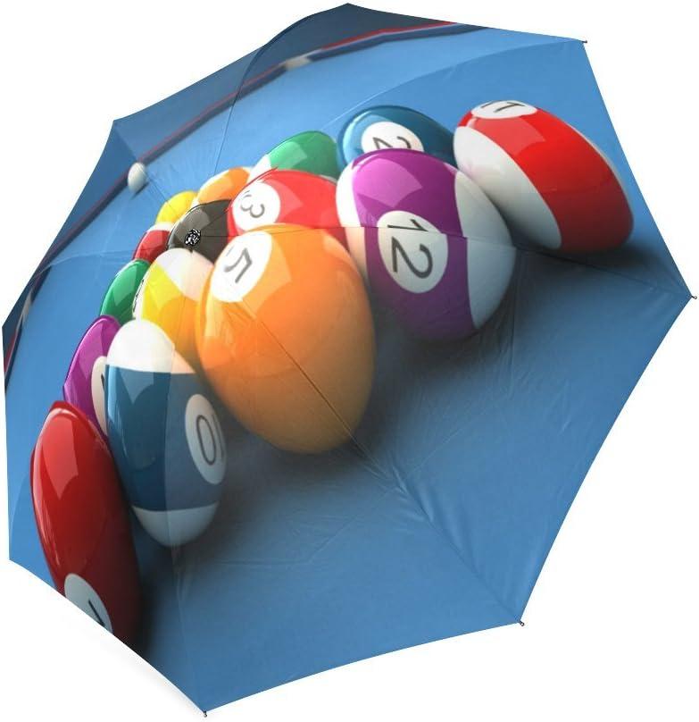 Custom Billiards Compact Travel Windproof Rainproof Foldable Umbrella