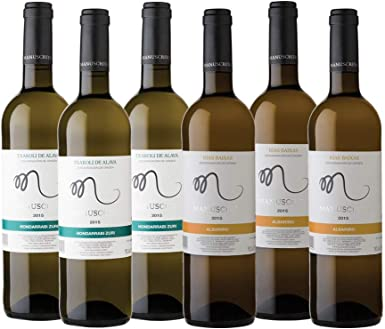 Vinos Manuscrito Pack 6 Botellas - Blanco (3x Albariño 100% - 3x Txakoli 100%): Amazon.es: Alimentación y bebidas