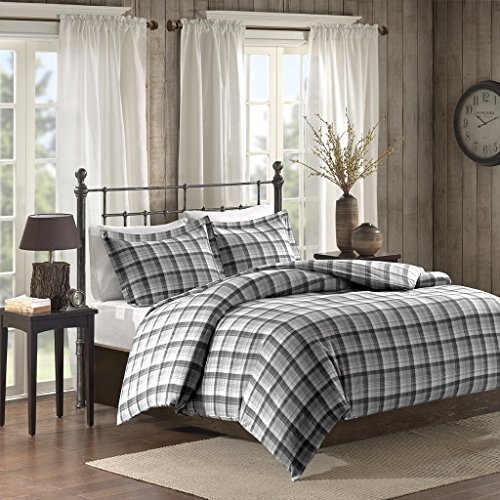 Tasha Flannel Comforter Mini Set Tasha Grey (Flannel Mini Comforter Set)