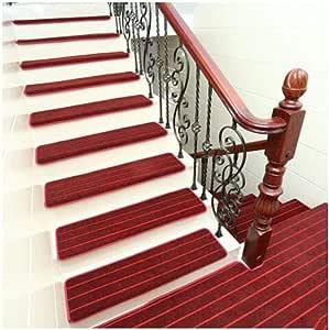 Pisadas de escalera de alfombra antideslizante, pisadas de escalera antideslizante alfombra de interior de 10 alfombra pisadas escaleras alfombras alfombrillas de goma de apoyo (65 x 24 cm).,B,65*24cm: Amazon.es: Hogar