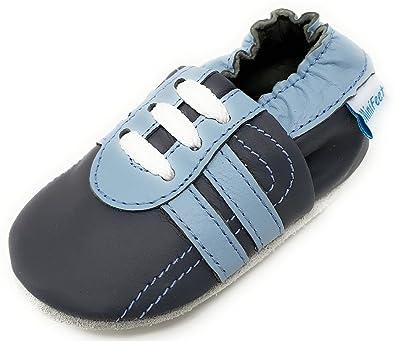 MiniFeet - Chaussures cuir souple bébé, Chaussure de Sport 0-6, 6-12, 12-18,  18-24 Mois et 2-3 ans: Amazon.fr: Chaussures et Sacs