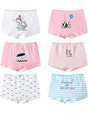 LeQeZe 6 Pezzi Mutandine Bambina Ragazza per Bambini Mutande di Cotone Ragazze 2-11 Anni