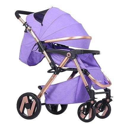 Carro de bebé Niño El cochecito de bebé puede sentarse y mentir abajo para evitar el ...