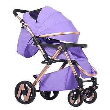 Carro de bebé Niño El cochecito de bebé puede sentarse y mentir abajo para evitar el
