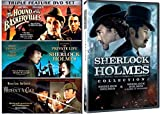 Sherlock Holmes Collection & Game of Shadows Robert Downey Jr. Movie + Set - 3 Films without a clue, Private Life, Hounds of Baskerville DVD Mystery Set