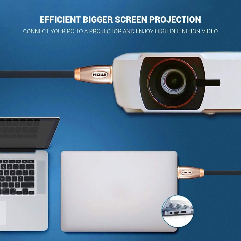 Placcato Oro Connettori Audio Ritorno Ultra HD Video 1080p 2160p ULTRICS Cavo HDMI 1.5M 4K HDMI 2.0 Alta velocit/à 18Gbps Ethernet Nylon Intrecciato Cordone Arc e HDR per Gaming PS4 PC LED TV 3D