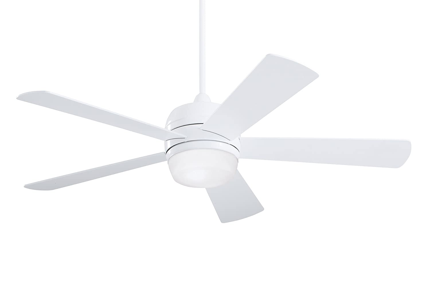 Emerson Ceiling Fans CF930WW Atomical 52-Inch Modern Indoor Outdoor Ceiling Fan With Light And Remote, Damp Rated, Appliance White Finish