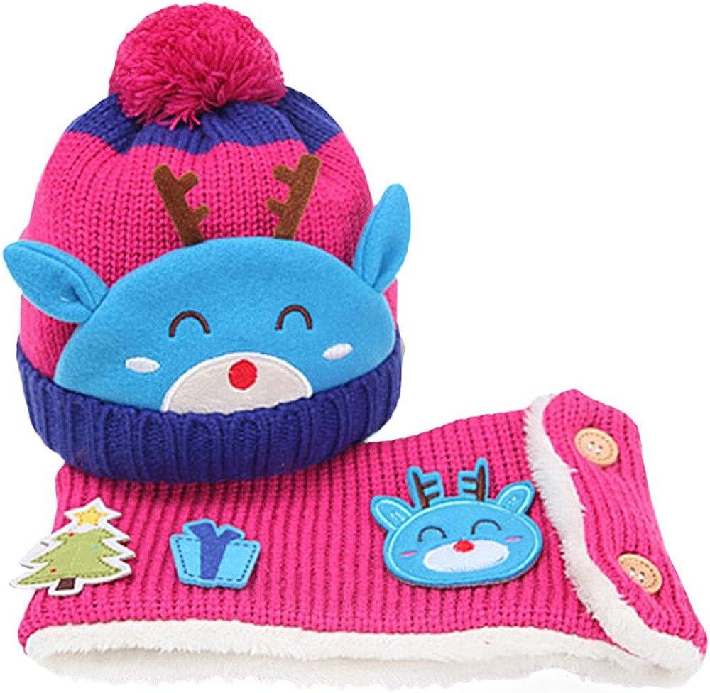 Memela Baby Winter Hat,Baby Winter Hat Scarf Set-Infant Toddler Baby Girls Boys Knit Warm Cap /& Scarf Neck Warmers Suit 2pcs