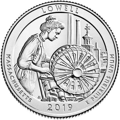 2019 S Clad Proof Lowell National Historical Park Lowell Massachusetts National Park NP Quarter GEM Proof US Mint