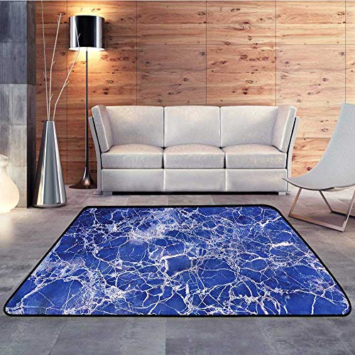 Non-Slip Area Rug Pad,Marble,Cracked Marble PatternW 78.7