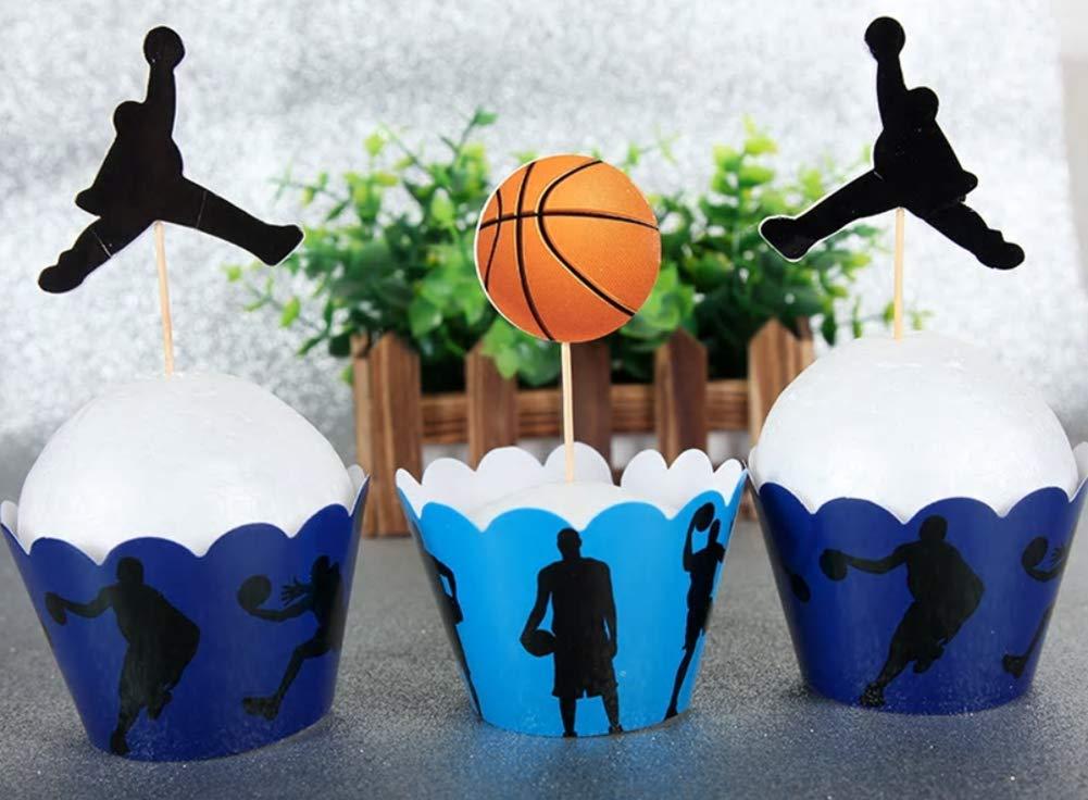 12 x baloncesto deporte fiesta de cumpleaños para tartas Cupcake ...