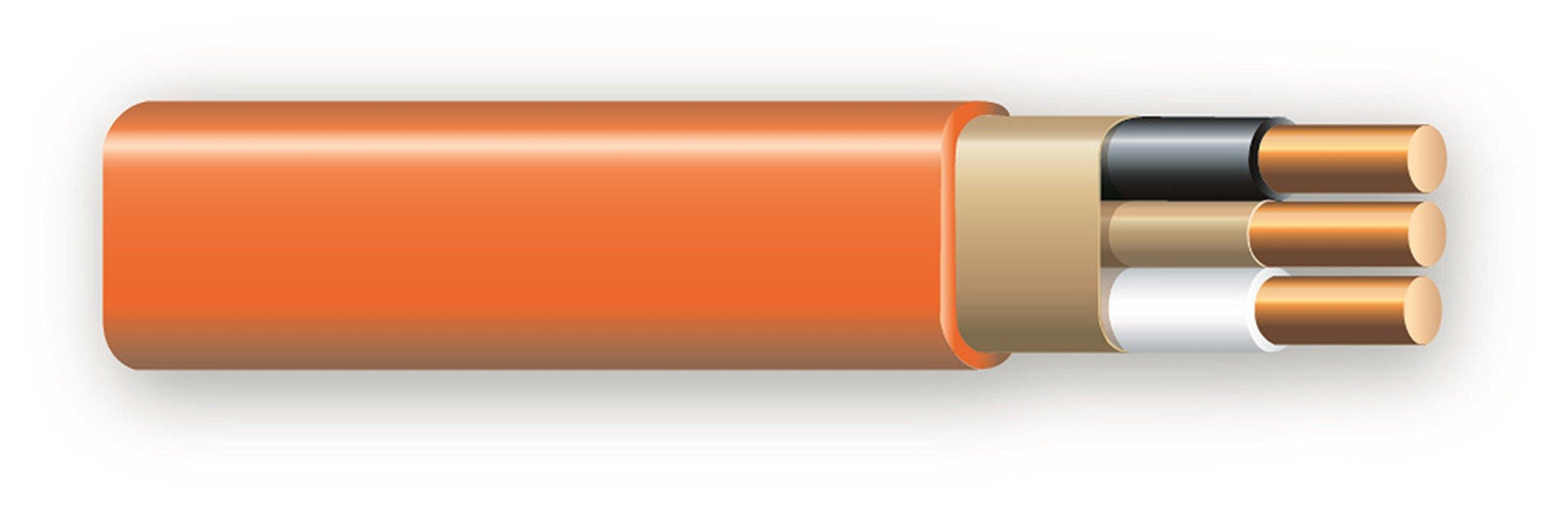 Cerrowire 147-1802CR-2 100-Feet 10/2 NM-B Solid with Ground Wire, Orange