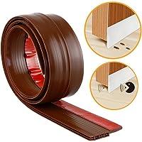 Stick&Seal 50 mm Wide, Under Door Sweep Weather Stripping Door Bottom Seal Strip Door Draft Stopper (Brown, 1 Meter)