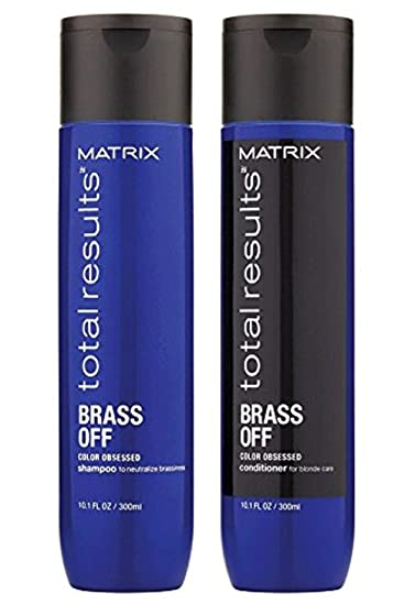 Amazon Com Matrix Total Results Brass Off Shampoo And Conditioner