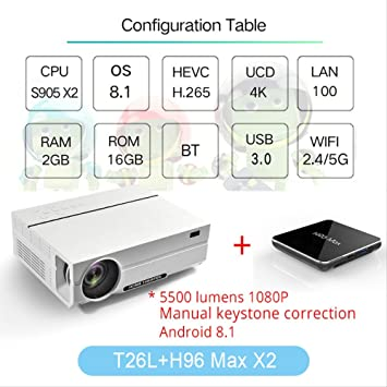 SMEI Proyector Full HD Beamer Video Led Nativo 1080p 5500 ...