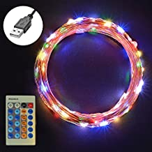 USB Led String Lights, Sunix 110 LEDs 36ft Dimmable Star Starry Copper Wire, Fairy String Lights, Multil-Colour Decorative Rope Lights for Christmas, Party, Wedding, Garden, Festival