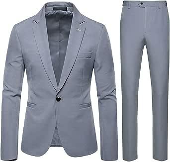 Traje Suit Hombre 2 Piezas Chaqueta Chaleco PantalóN Traje al ...