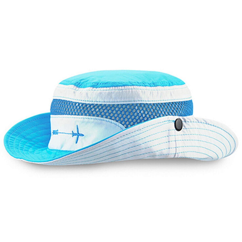 New Summer Panama Hats for Kids Boys Mesh Bucket Hat Breathable Caps Kindergarten Outdoor Sun Hat