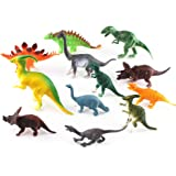 """Dinosaur Toys Playsets Small Plastic Assorted Dinosaurs 12 Piece Set, Perfect for Toddlers & Preschoolers, 3-5"""""""