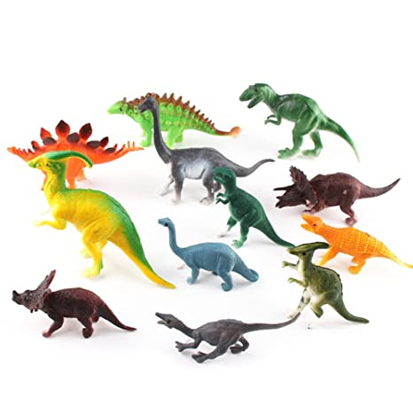 Dinosaurio Juguetes de Fisher-Price pequeña surtido dinosaurios 12 piezas de plástico, ideal para