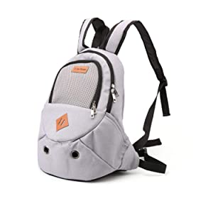 LIAOYLY Pet Backpack Canvas Spring Outdoor Travel Small Dog Carrier Bag Breathable Zipper Shoulder Carry Puppy Cat Bag,