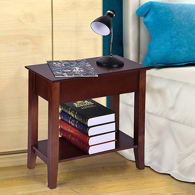 Amazon.com: DEESEE(TM)🍀🍀Living Room Flip Top End Table ...