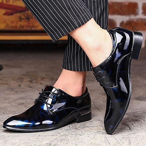 Extra Bebete5858 scamosciato Dimensione Blu Inghilterra PU Uomo scarpe particolarmente casuale stile Uomini Grande Pelle 48 dfWrRfwq60