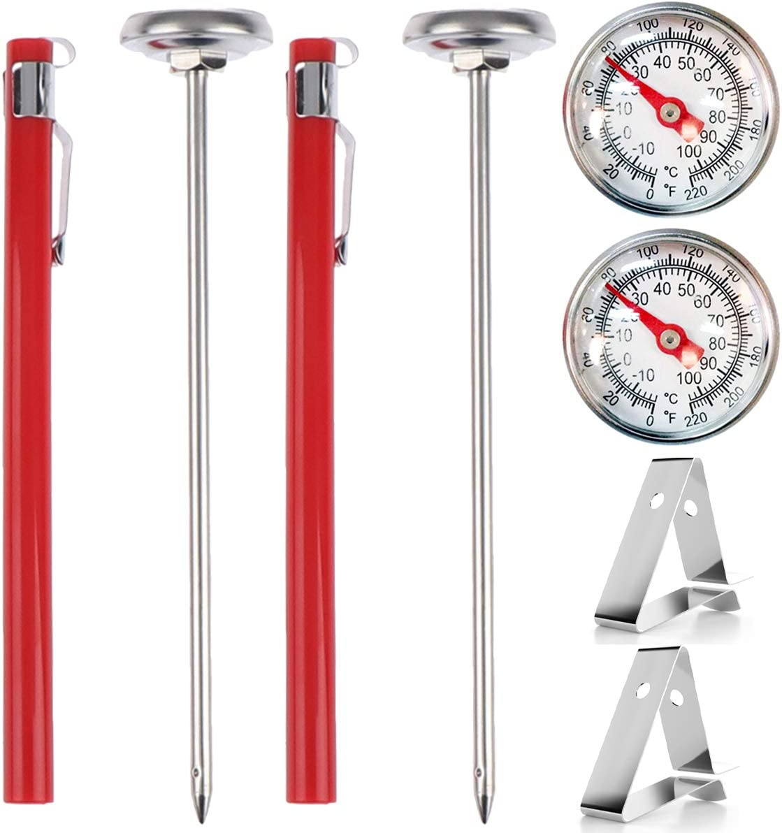 Buytra 2 Pack Stainless Steel Instant Read Pocket Thermometer 1