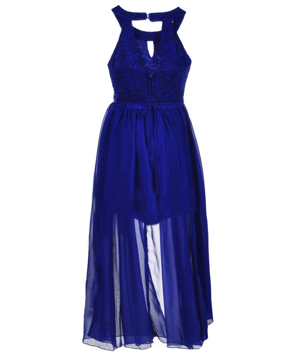 Sin Royal Habla puerta Big de B01EKNIKNQ Big Girls vestido Azul ...