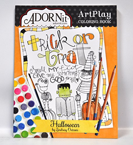 Halloween Panel Coloring Book