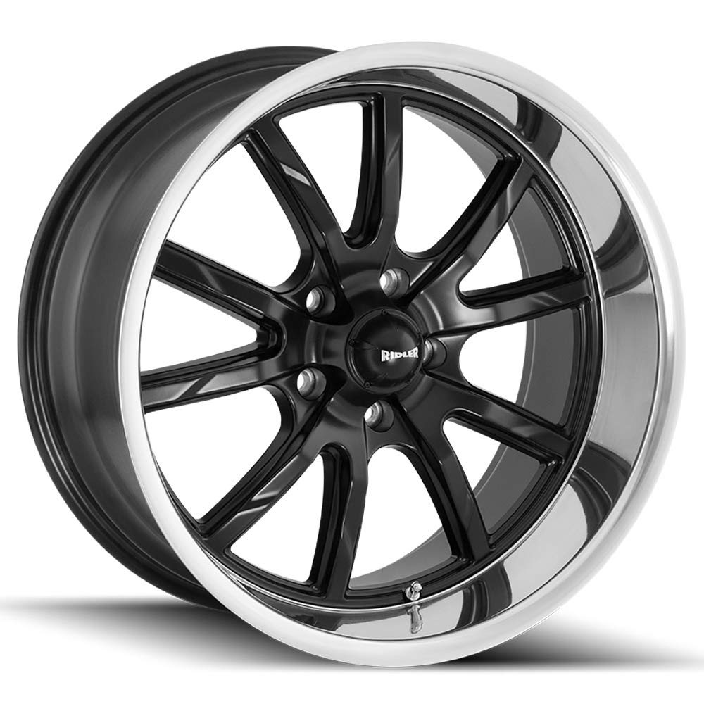 Ridler 650 17x8 5x4.75 0mm Matte Black Wheel Rim