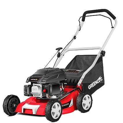 Greencut GLM680SX Cortacésped Tracción Manual, Motor Gasolina, 3677 W, Rojo, 40 cm