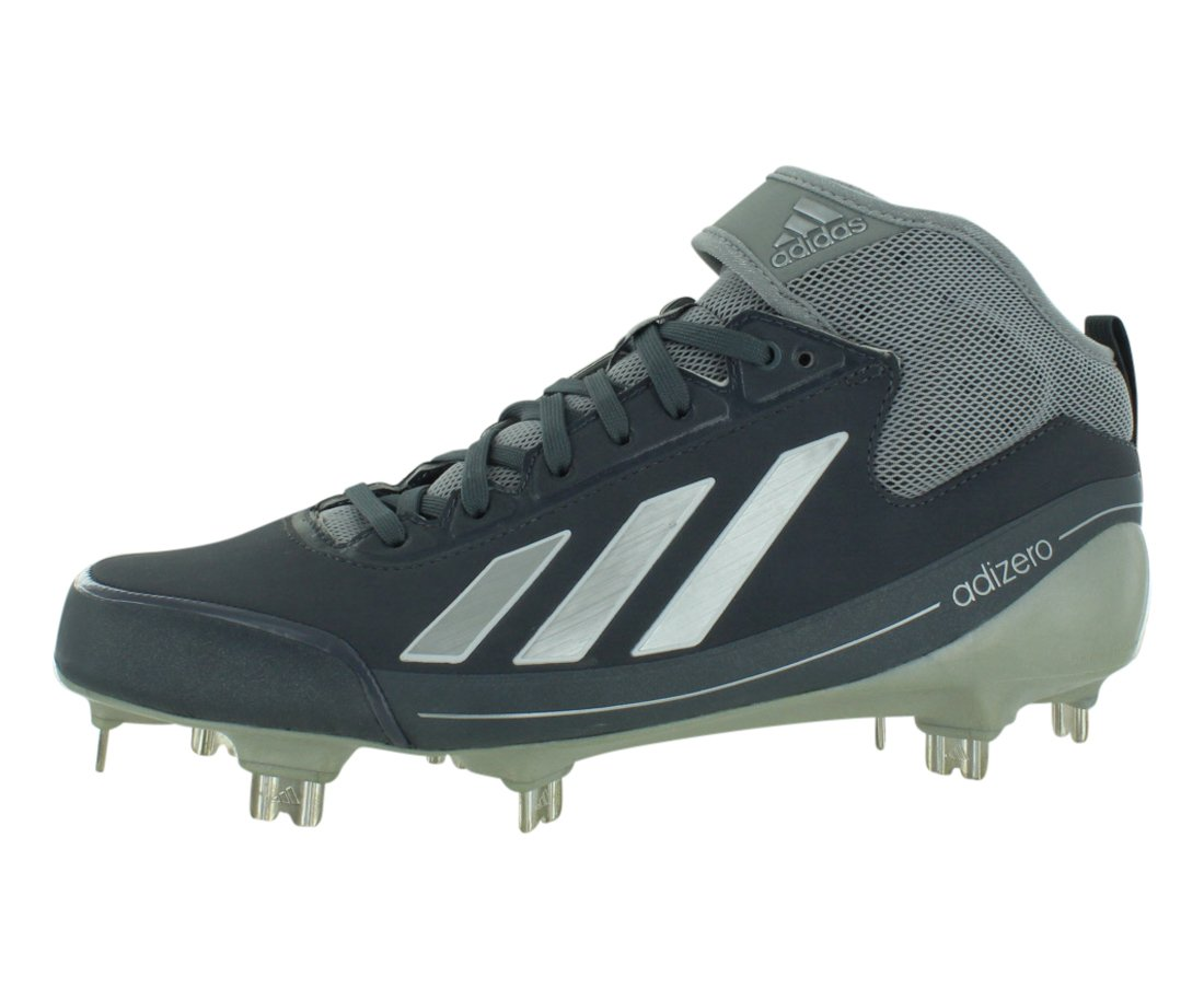 Adidas Men's Adizero 5-Tool 2.5 Low Metal Baseball Cleats B00F8LUQLE 12 M US|Grey / Silver