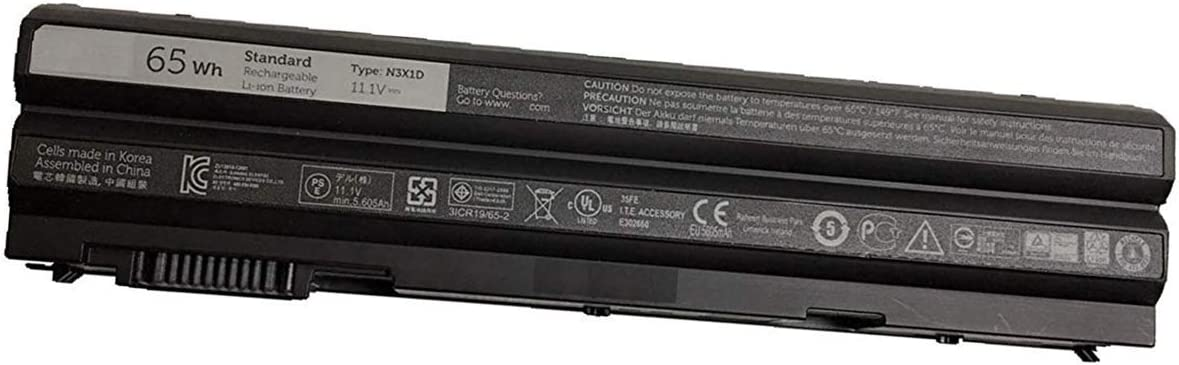 BOWEIRUI N3X1D (11.1V 65Wh 5606mAh) Laptop Battery Replacement for Dell Precision M2800 Latitude E6540 E6440 Series 2N6MY