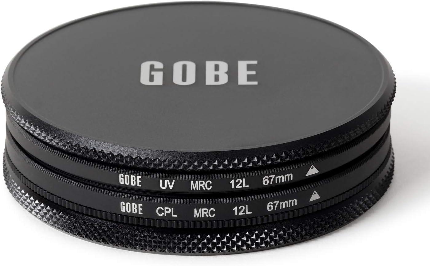 Gobe 49mm UV Lens Filter Kit Circular Polarizing CPL 1Peak