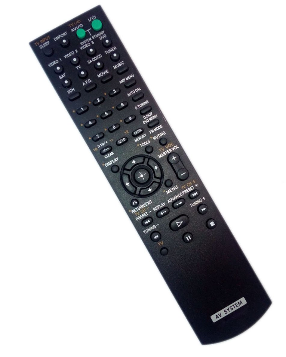 Replaced Remote Control for Sony RMAAU013 STR-DG510 STRK1600 HT-DDW700 1-479-691-11 Home Theater Audio/Video Receiver AV System