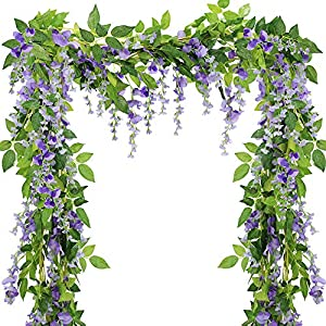 Supla Artificial Wisteria Hanging Garland 8.2 Ft 35