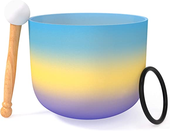 cristal de cuarzo esmerilado con anillo de goma Singing Bowl Perfect Sound de 8 pulgadas Fransande