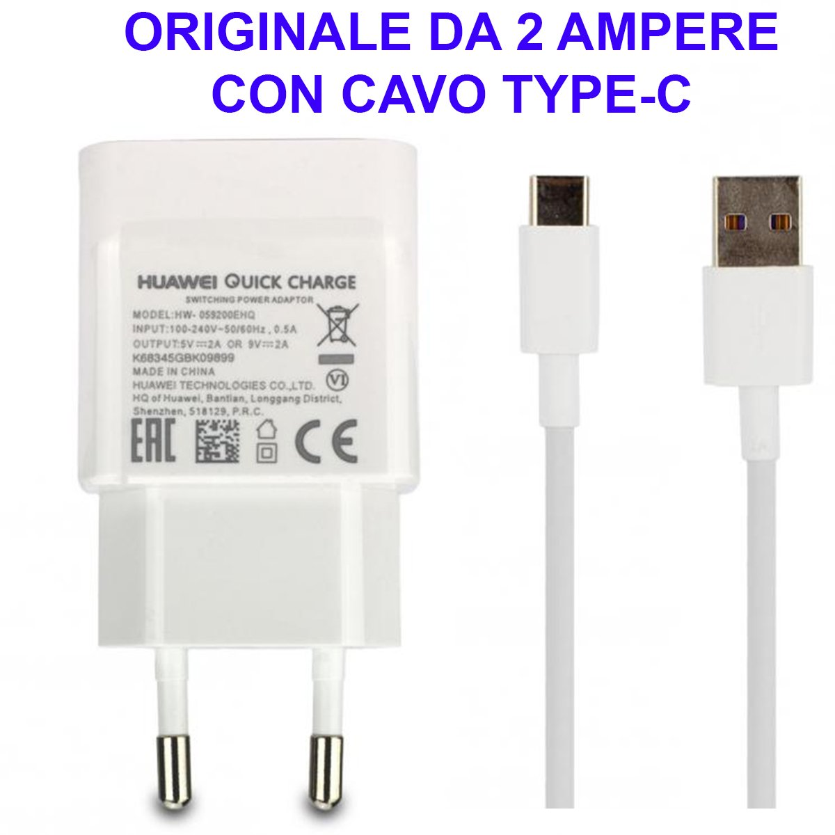 Cargador Huawei Original Cable Type-C tipo C P9 P10 Plus ...