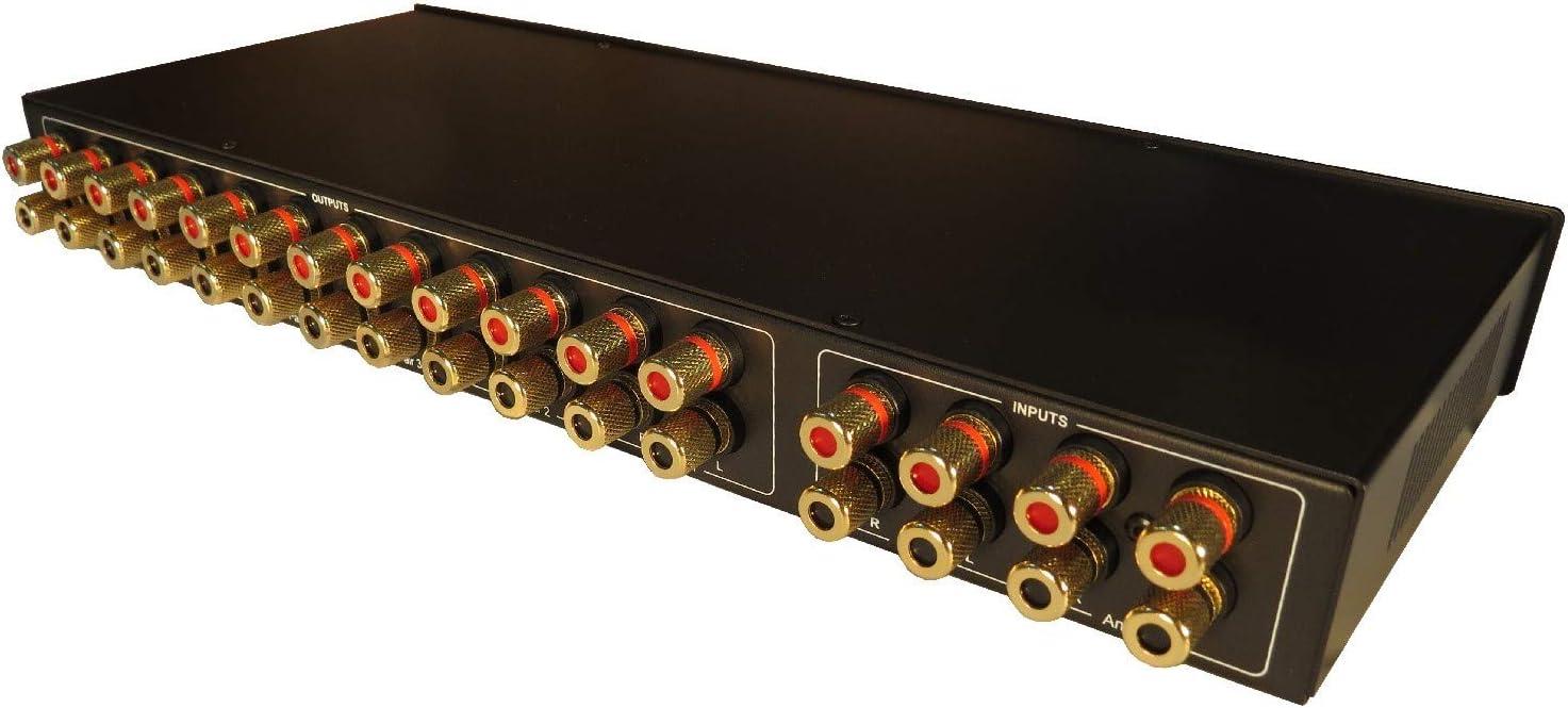 Commercial Grade Brass Jacks 2 Amp x 6 Pair Speaker Selector Switch Switcher Volume Control