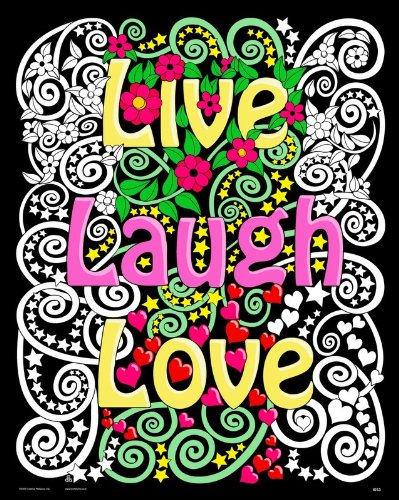 Live Laugh Love Fuzzy Velvet Poster - 16x20 Inches
