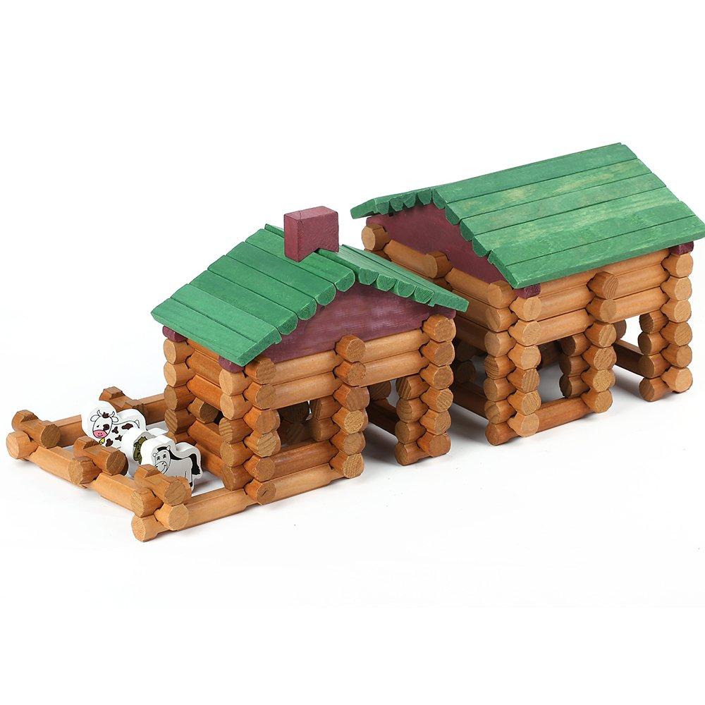 Wondertoys 170 Piece Wood Logs Set Building Toys for Children
