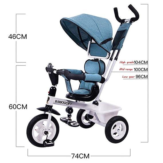 BGHKFF 4 En 1 Triciclo para Niños 12 Meses A 6 Años 360° Asiento ...