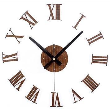 Relojes de Pared Tridimensional DIY Relojes Romana Digital