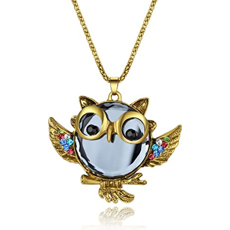Amazon owl jewelry beautiful crystal vintage owl pendants owl jewelry beautiful crystal vintage owl pendants necklace owl jewelry aloadofball
