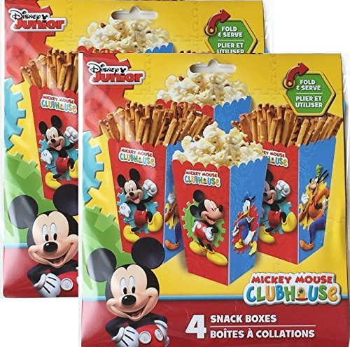 Mickey Mouse Clubhouse 8 Snack Boxes - Mickey Mouse Cardboard