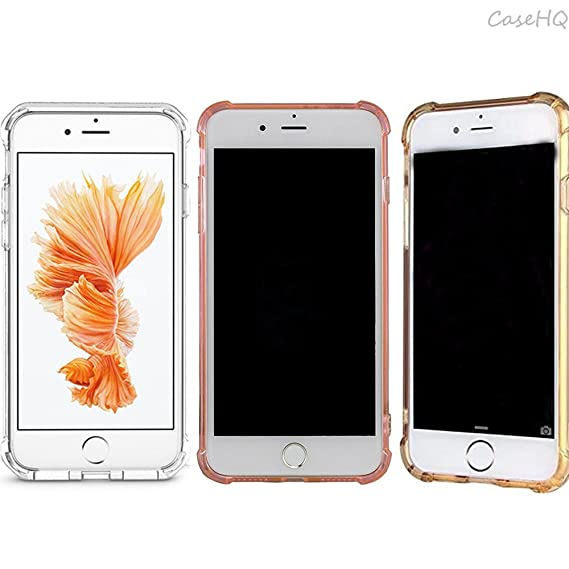 [3 Pack]CaseHQ iPhone 7/8 Case TPU Ultra Slim Heavy Duty Protection