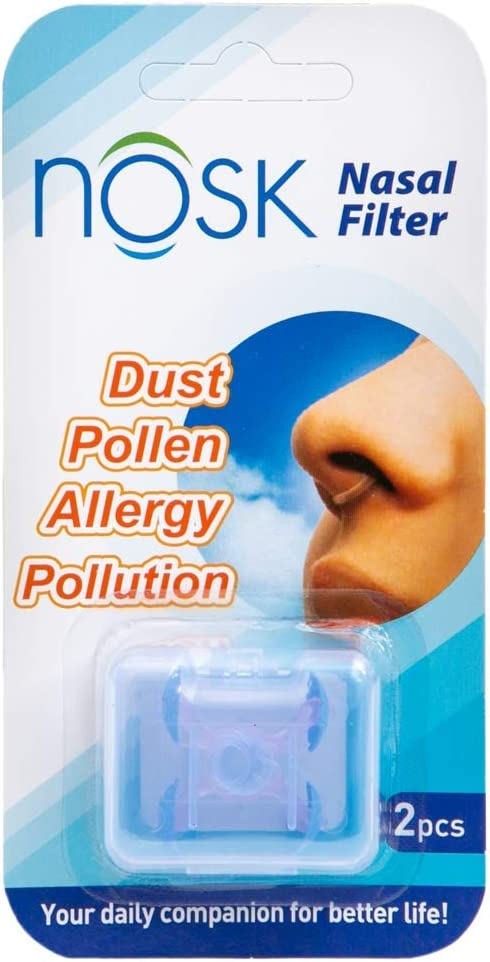 NOSK Nasal Filter - Allergen Advanced Breathable Nose Filter | Reducing Airborne Viruses, Allergens, Relieve Hay Fever, Pollen and Dust – Pack of 2 (Small)